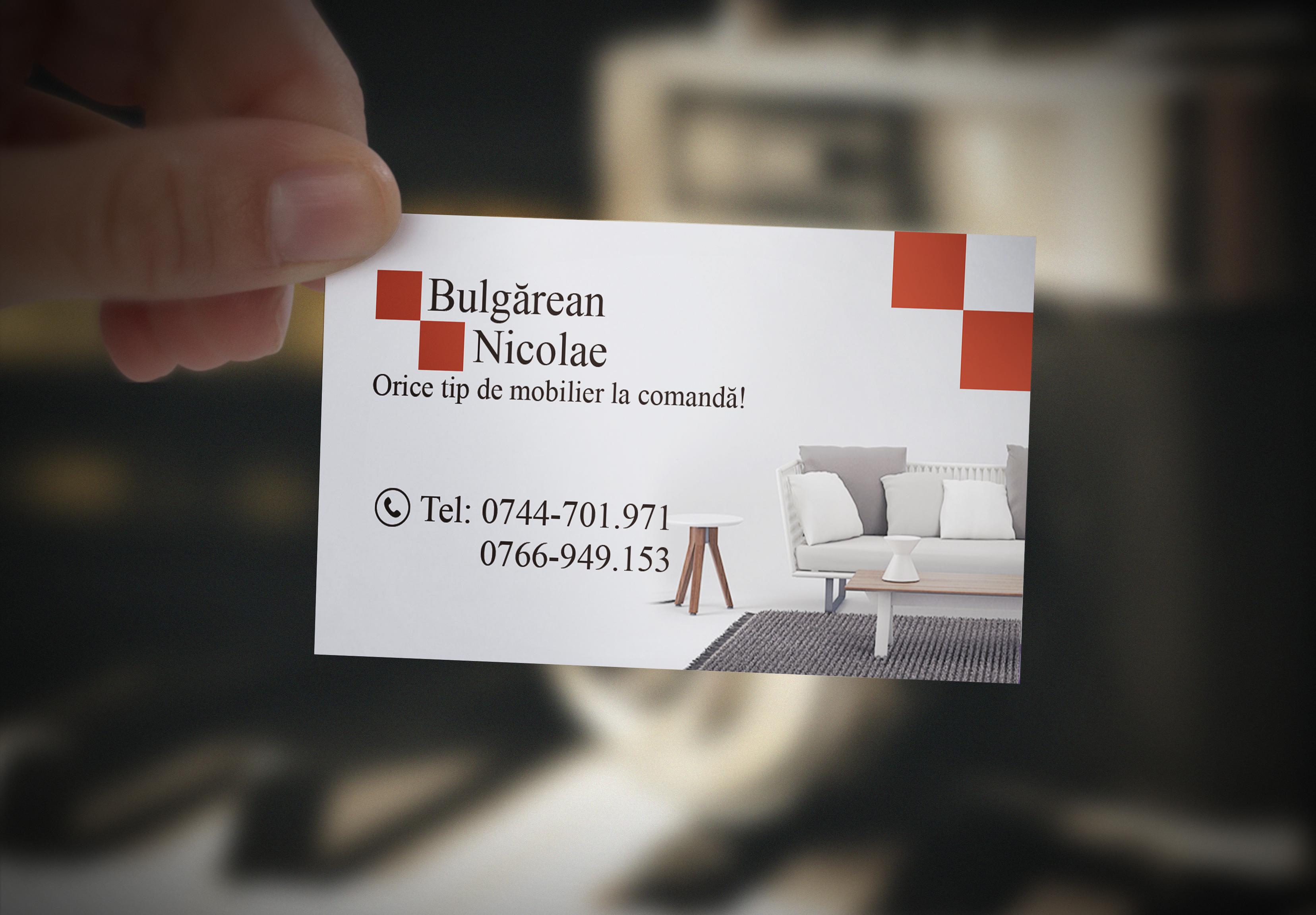 Carte de vizită Bulgărean Nicolae