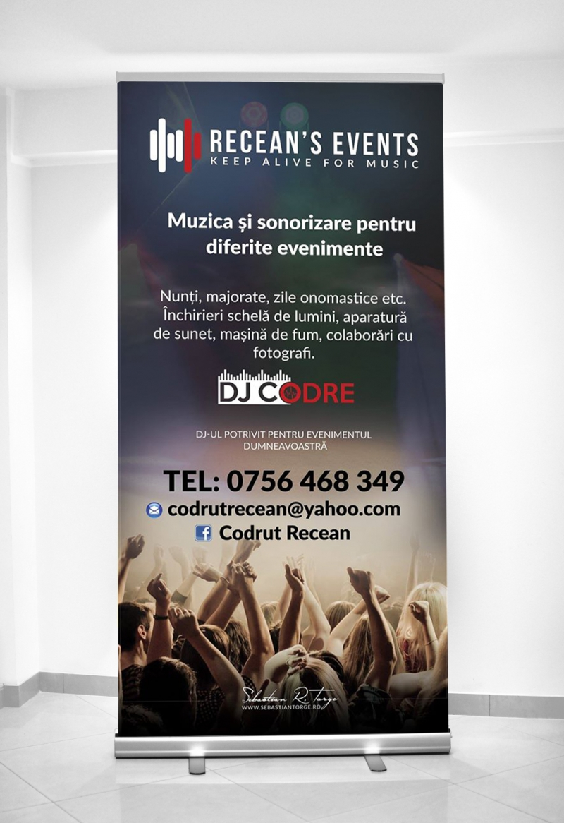 Design RollUP Recean's Events