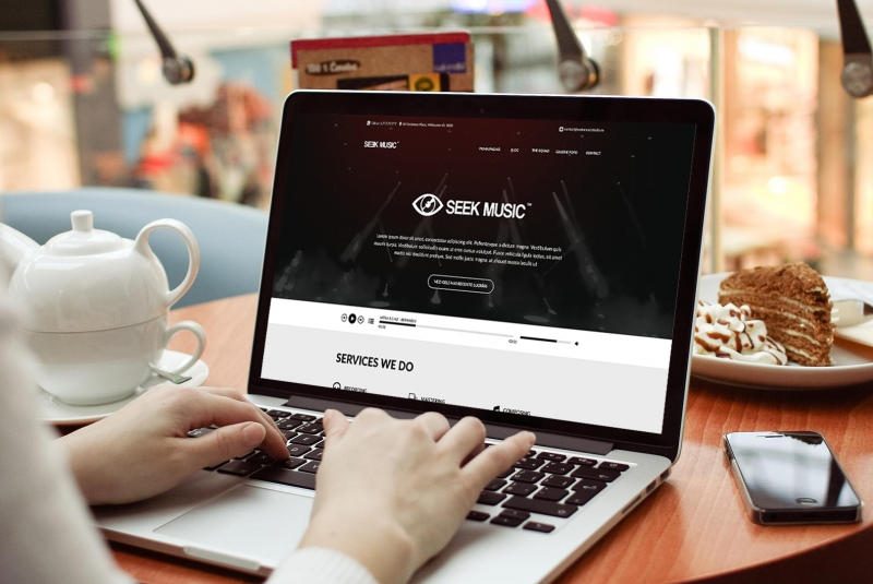 Layout website Seek Music